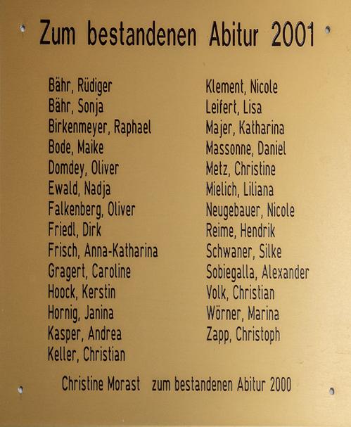 Jahrgang 2001